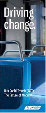 Cover of the Bus Rapid Transit brochure