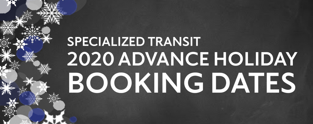 Click here to find out more details about 2020 Advance Holiday Booking Dates for Specialized Transit
